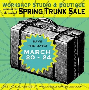 trunk sale poster 2014 spring